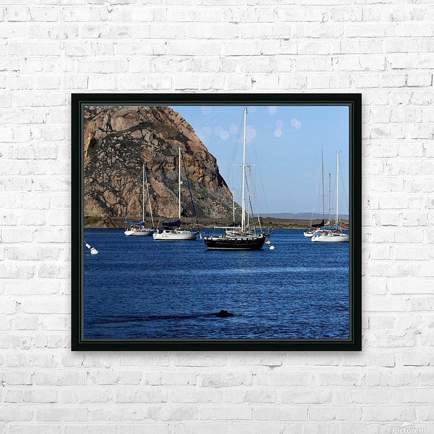 Morro Rock HD Sublimation Metal print with Decorating Float Frame (BOX)
