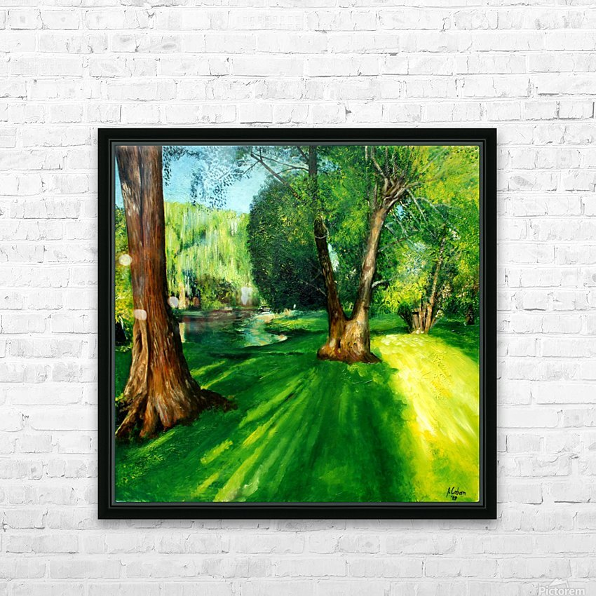 Arboretum shades HD Sublimation Metal print with Decorating Float Frame (BOX)
