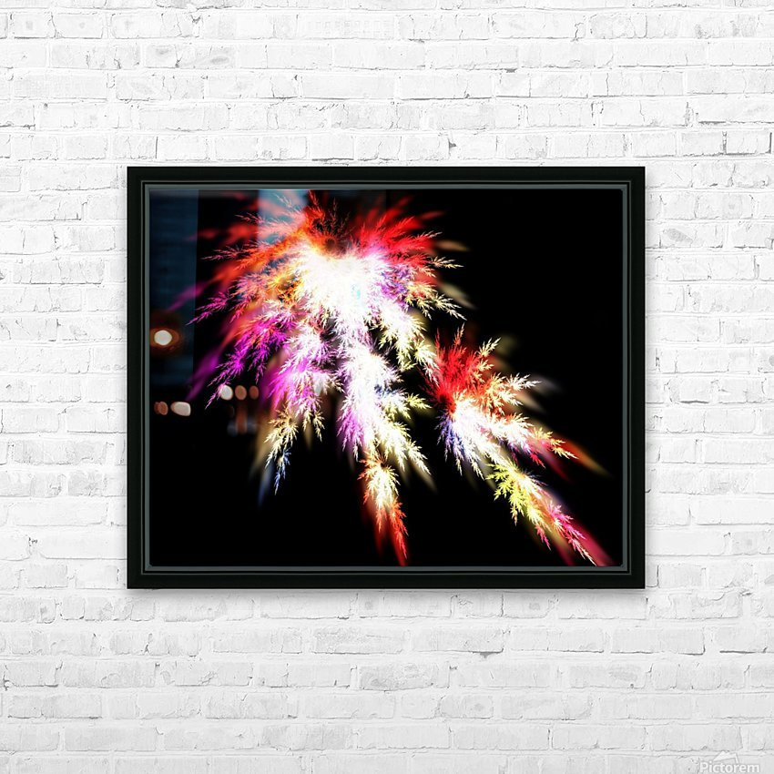 Peacock song HD Sublimation Metal print with Decorating Float Frame (BOX)