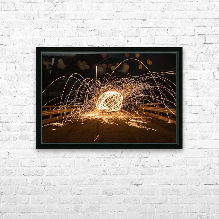 Spiral orb HD Sublimation Metal print with Decorating Float Frame (BOX)
