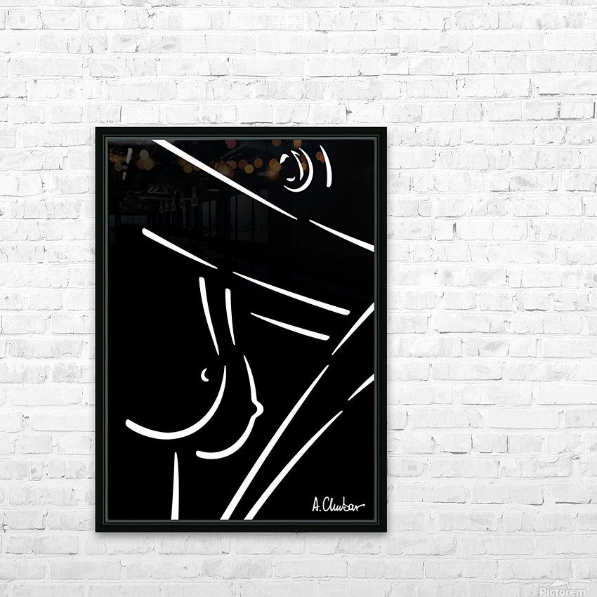 Nude 23 HD Sublimation Metal print with Decorating Float Frame (BOX)