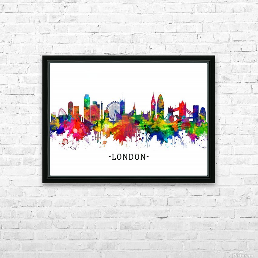 London England Skyline HD Sublimation Metal print with Decorating Float Frame (BOX)