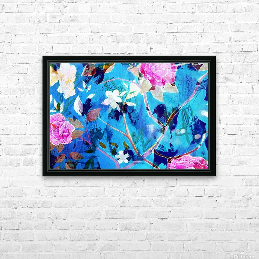 Full Bloom HD Sublimation Metal print with Decorating Float Frame (BOX)