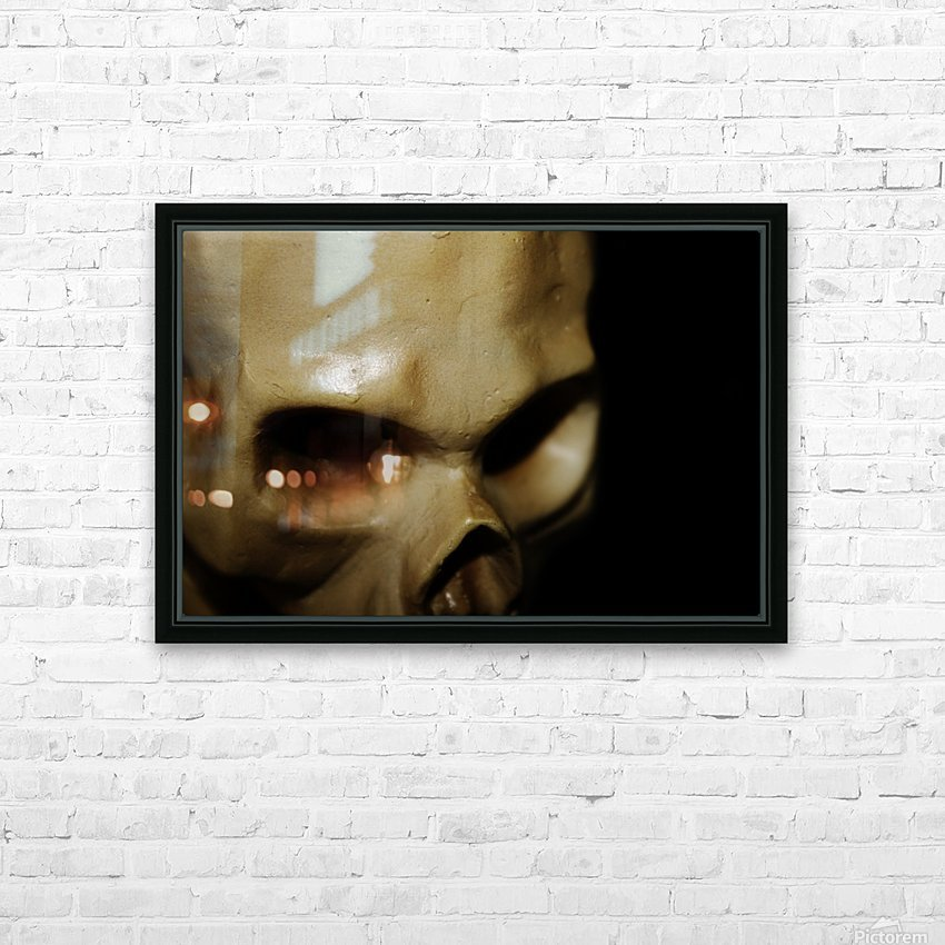 Skeleton Head HD Sublimation Metal print with Decorating Float Frame (BOX)