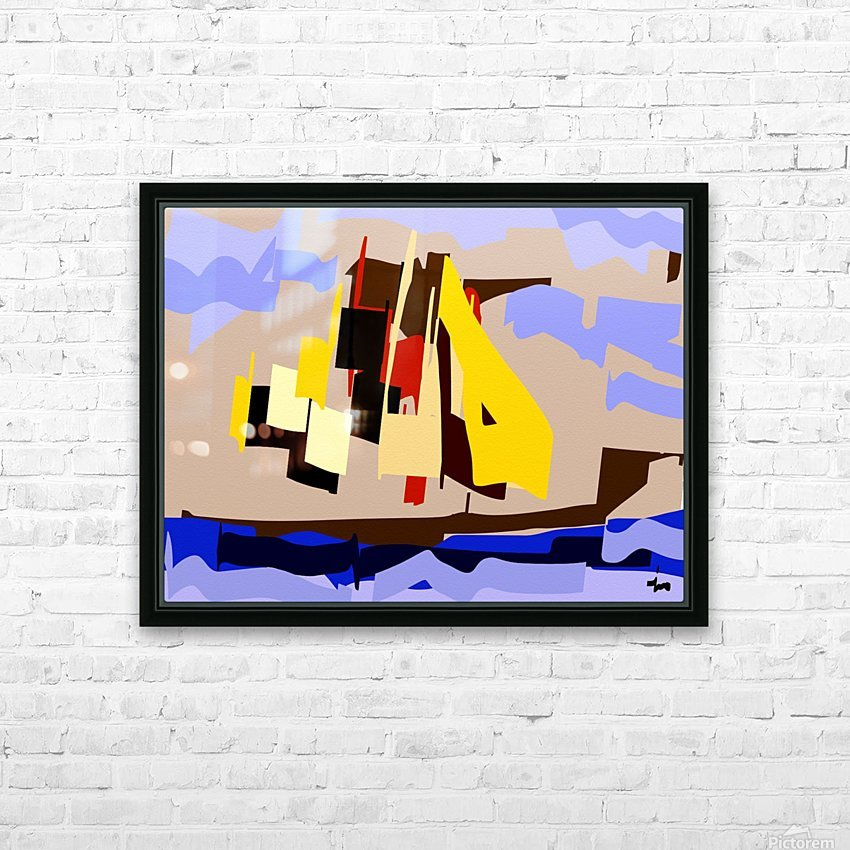 0072 HD Sublimation Metal print with Decorating Float Frame (BOX)
