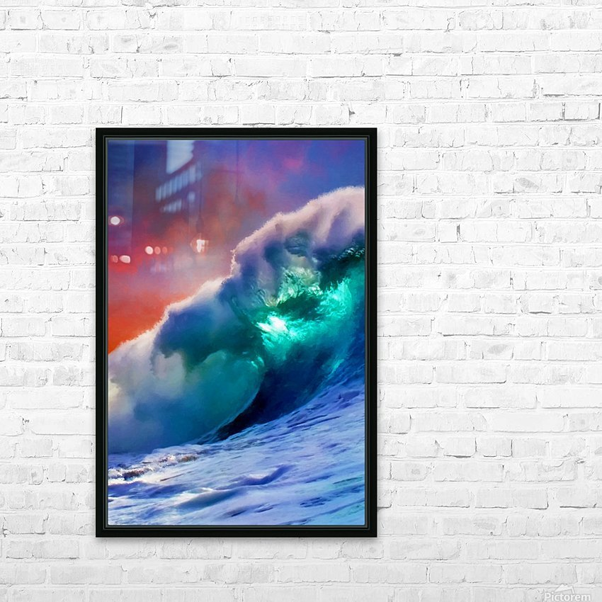 Sunset Wave HD Sublimation Metal print with Decorating Float Frame (BOX)
