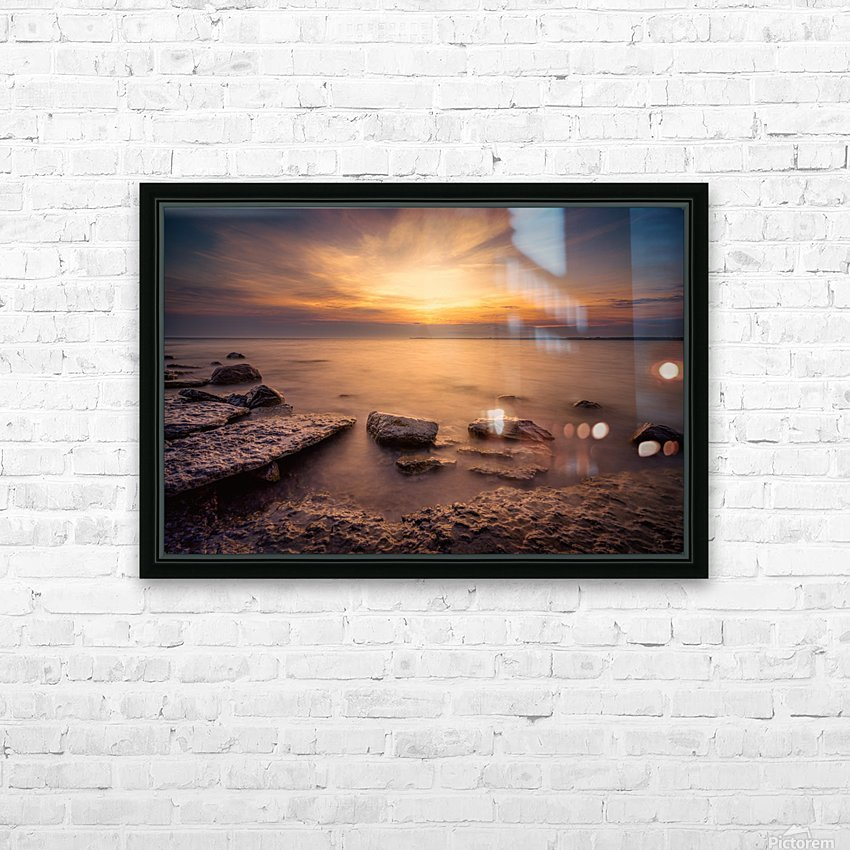 Point Petre Sunset HD Sublimation Metal print with Decorating Float Frame (BOX)