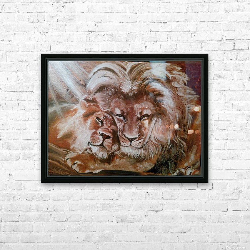 Leos.Fondness HD Sublimation Metal print with Decorating Float Frame (BOX)