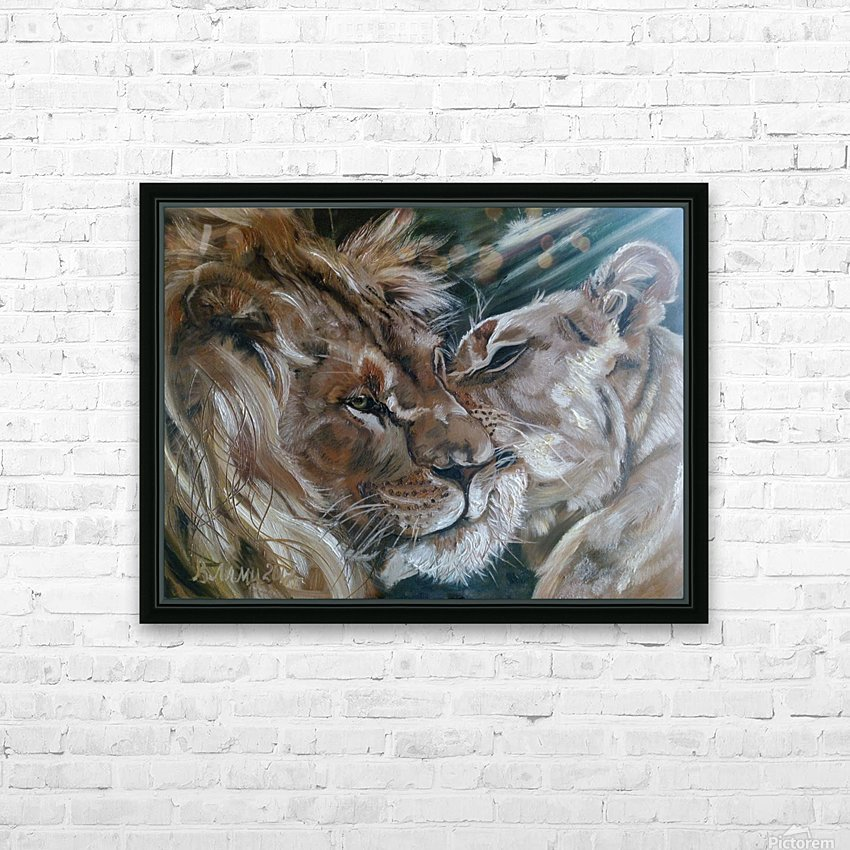 Leos. Tenderness. HD Sublimation Metal print with Decorating Float Frame (BOX)