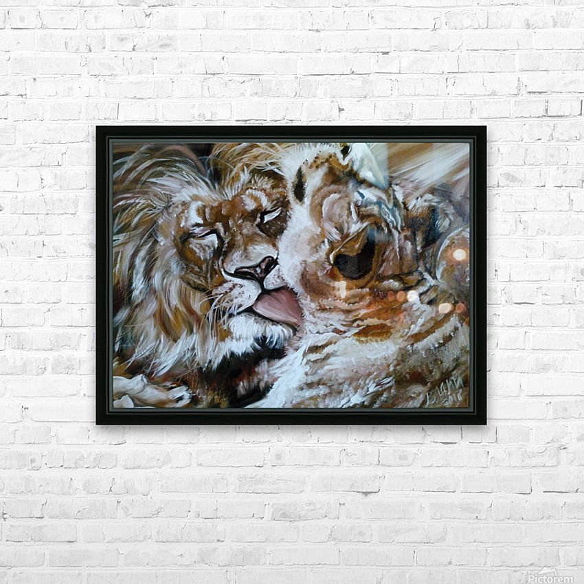 Leos.Devotion. HD Sublimation Metal print with Decorating Float Frame (BOX)
