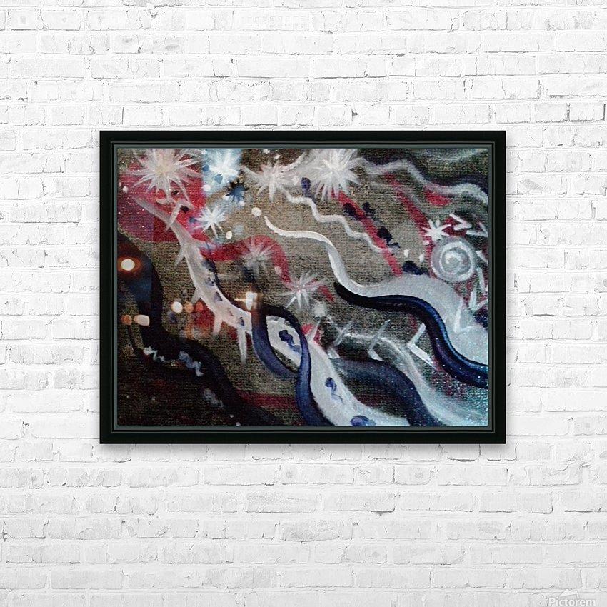 Shungite.Epiphany4. HD Sublimation Metal print with Decorating Float Frame (BOX)
