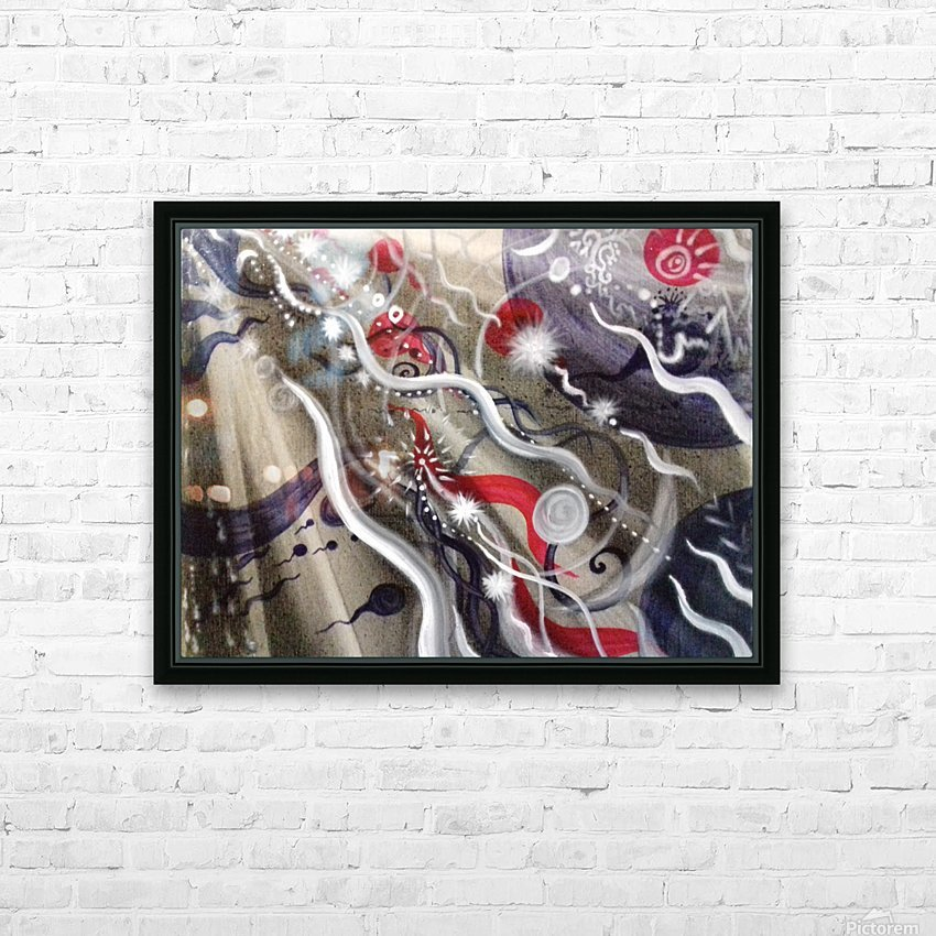 Shungite.Epiphany1. HD Sublimation Metal print with Decorating Float Frame (BOX)