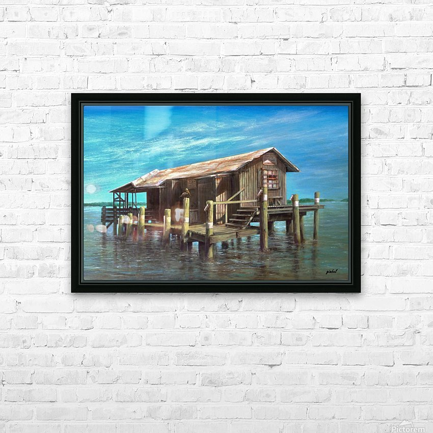ice station HD Sublimation Metal print with Decorating Float Frame (BOX)