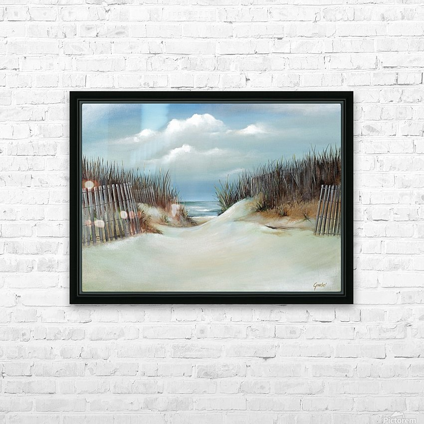 Sand dunes HD Sublimation Metal print with Decorating Float Frame (BOX)