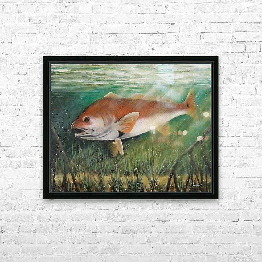 redfish HD Sublimation Metal print with Decorating Float Frame (BOX)