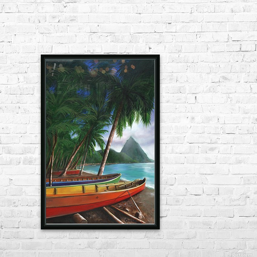 St. Lucia HD Sublimation Metal print with Decorating Float Frame (BOX)