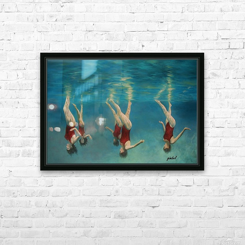 swimmers HD Sublimation Metal print with Decorating Float Frame (BOX)