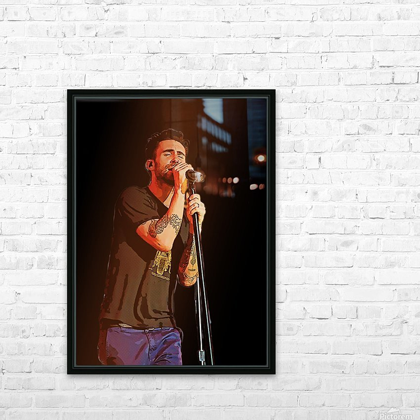 Adam Levine and Maroon 5 performed at The Forum in Inglewood Calif    HD Sublimation Metal print with Decorating Float Frame (BOX)