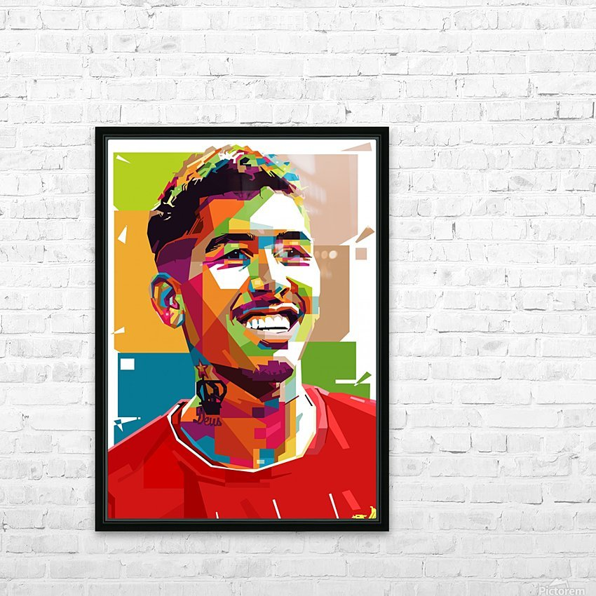 Roberto firmino HD Sublimation Metal print with Decorating Float Frame (BOX)