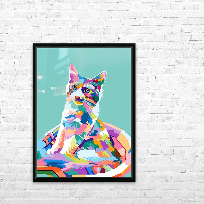 cats HD Sublimation Metal print with Decorating Float Frame (BOX)