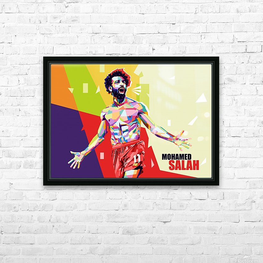 Mohamed salah HD Sublimation Metal print with Decorating Float Frame (BOX)