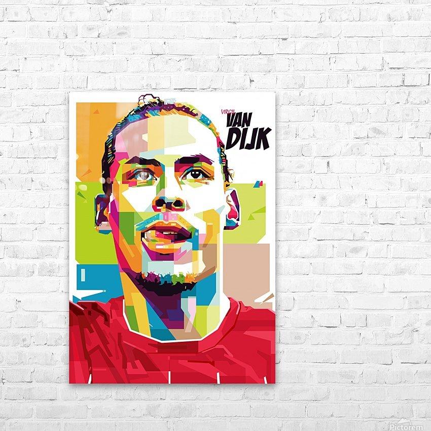 Virgil van dijk HD Sublimation Metal print with Decorating Float Frame (BOX)