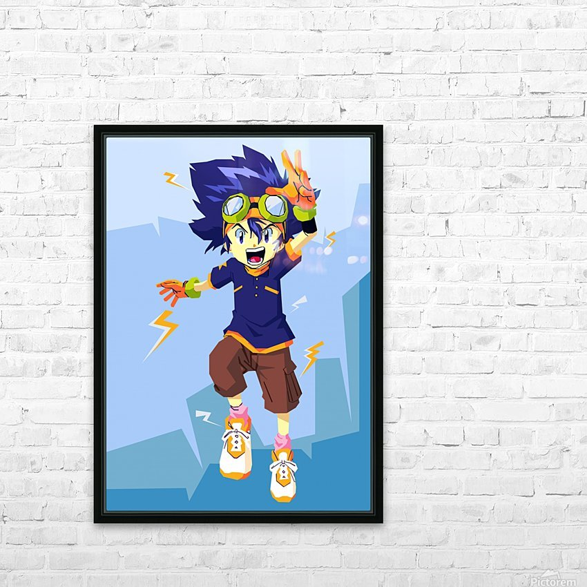 Digimon HD Sublimation Metal print with Decorating Float Frame (BOX)