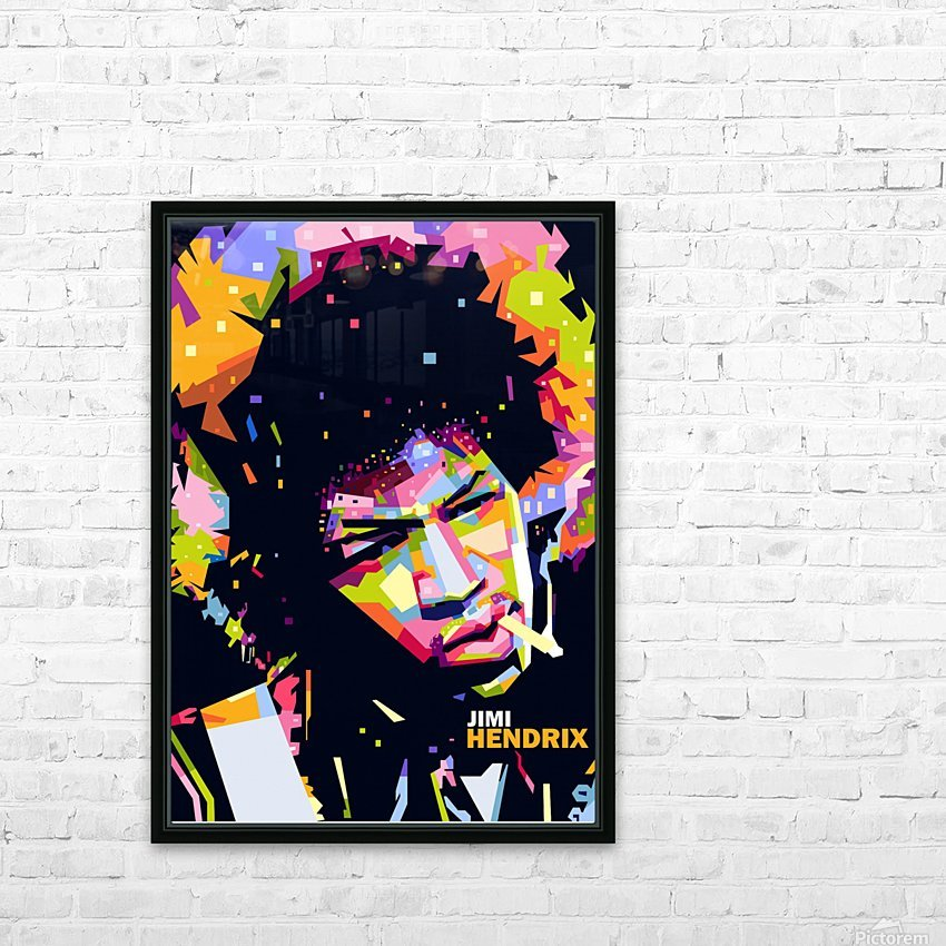 jimi hendrix HD Sublimation Metal print with Decorating Float Frame (BOX)