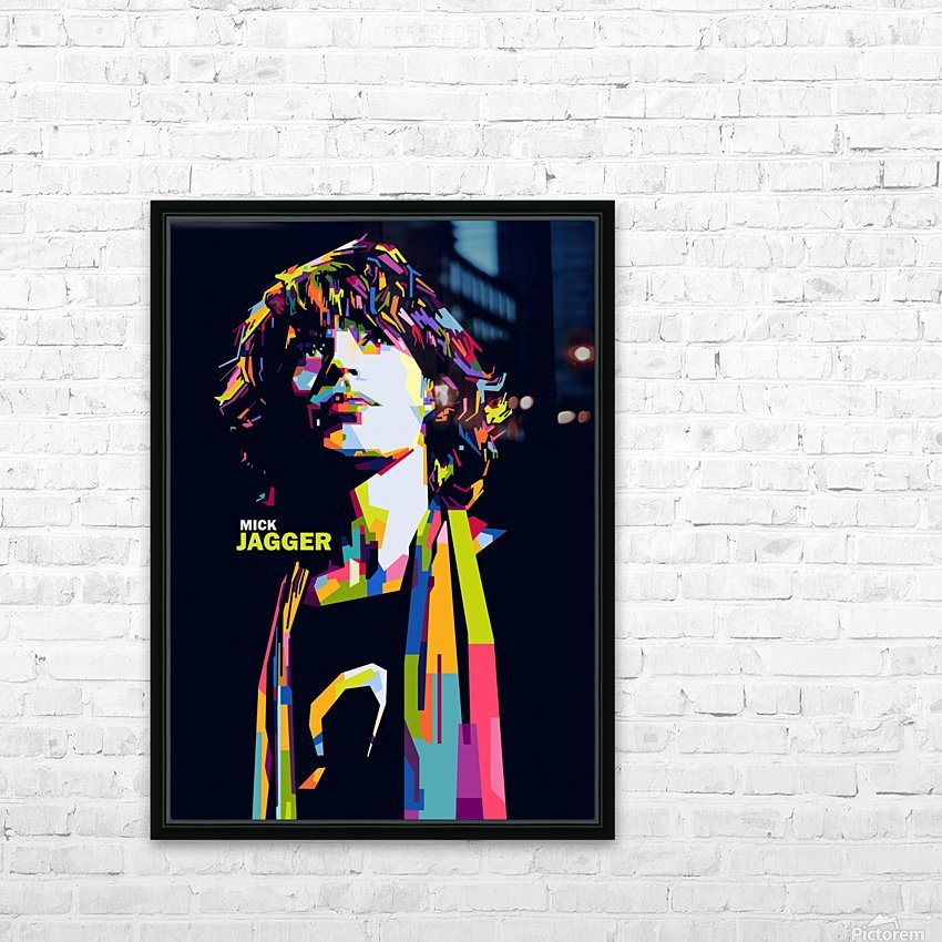 mick jagger HD Sublimation Metal print with Decorating Float Frame (BOX)