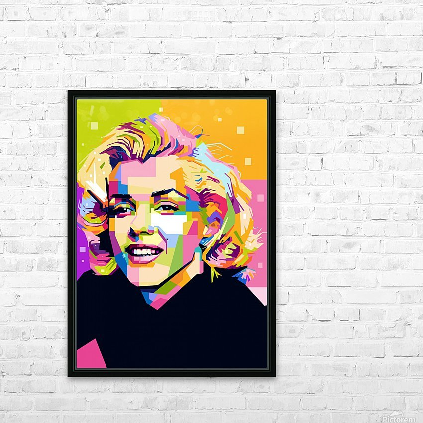 Marilyn Monroe HD Sublimation Metal print with Decorating Float Frame (BOX)