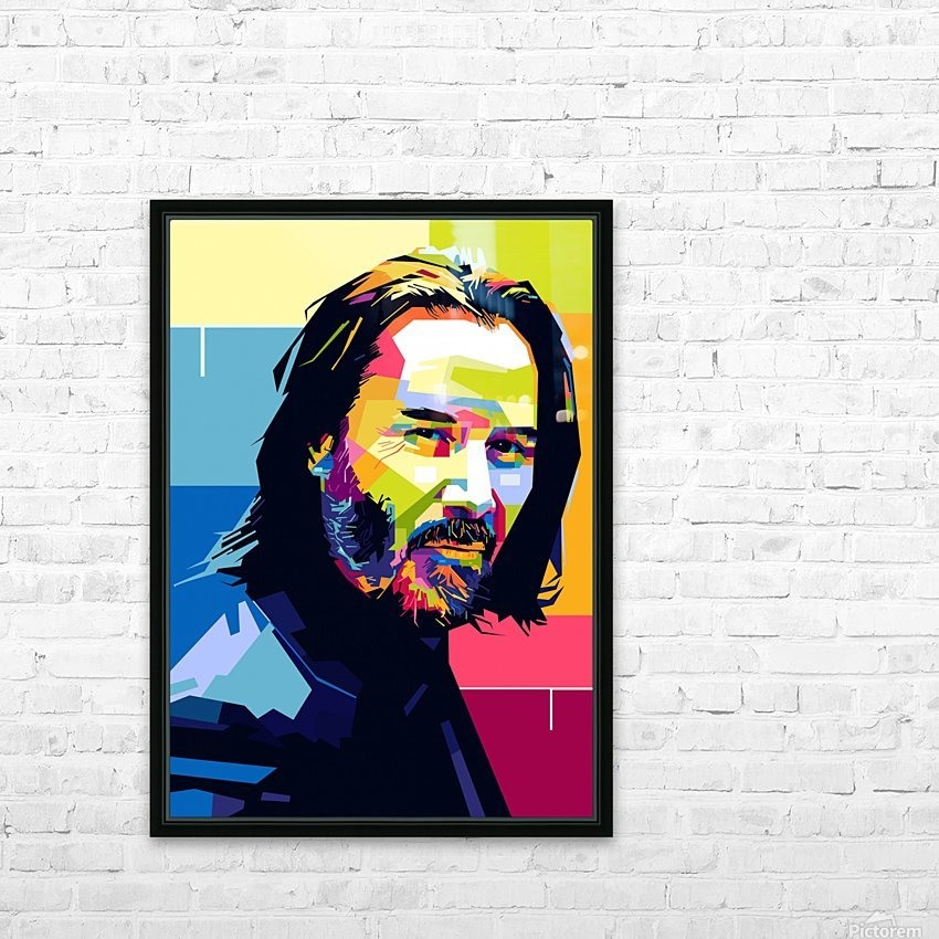 john wick HD Sublimation Metal print with Decorating Float Frame (BOX)