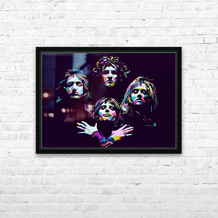 Queen HD Sublimation Metal print with Decorating Float Frame (BOX)