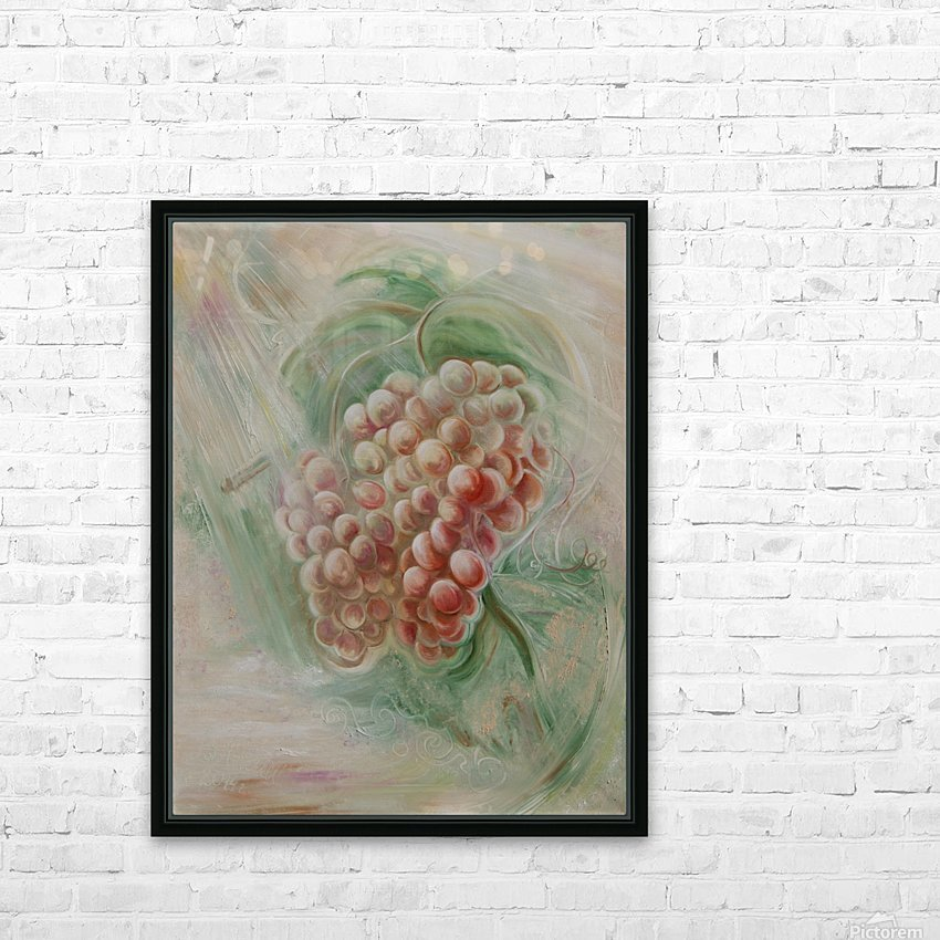 Grapes 14 HD Sublimation Metal print with Decorating Float Frame (BOX)