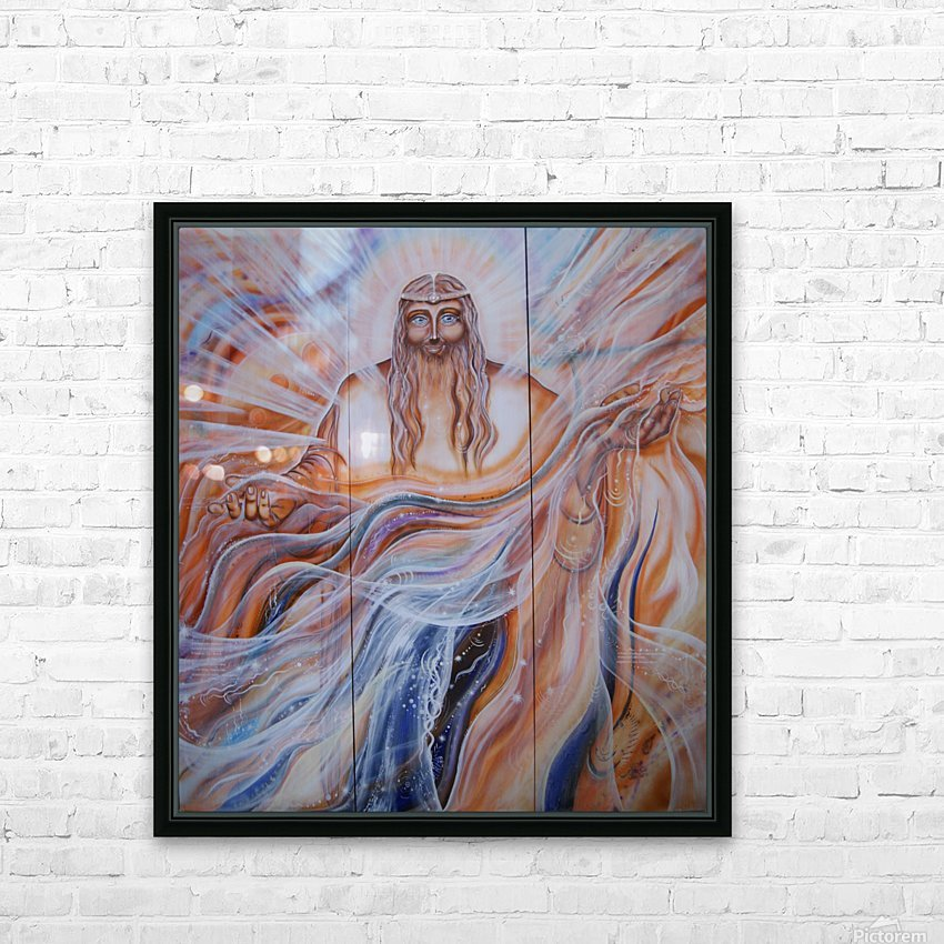 All-father Father of all.  Triptych HD Sublimation Metal print with Decorating Float Frame (BOX)