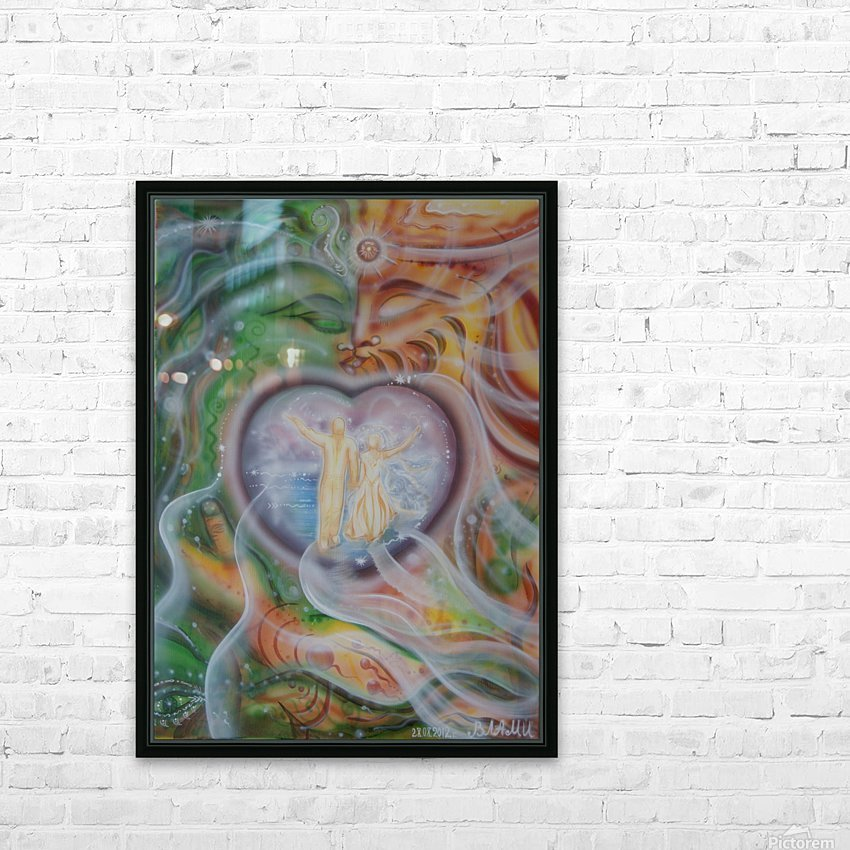 Amulet for love HD Sublimation Metal print with Decorating Float Frame (BOX)