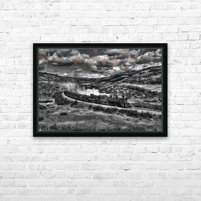 chama freight train B&W HD Sublimation Metal print with Decorating Float Frame (BOX)