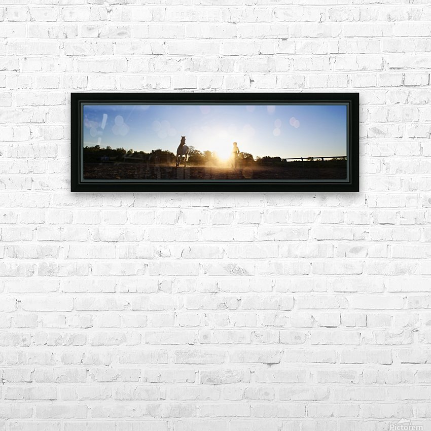 Lunging at Sunset HD Sublimation Metal print with Decorating Float Frame (BOX)