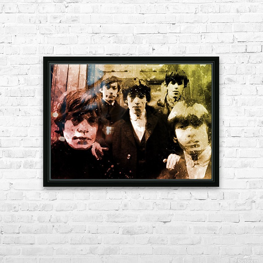 Rolling stones HD Sublimation Metal print with Decorating Float Frame (BOX)