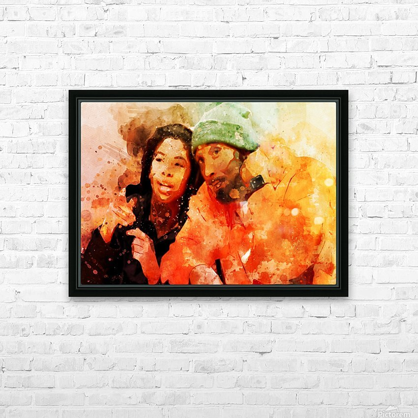 kobe and gianna bryant HD Sublimation Metal print with Decorating Float Frame (BOX)