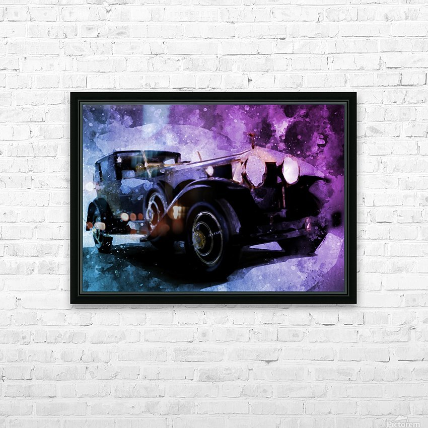 car vintage HD Sublimation Metal print with Decorating Float Frame (BOX)
