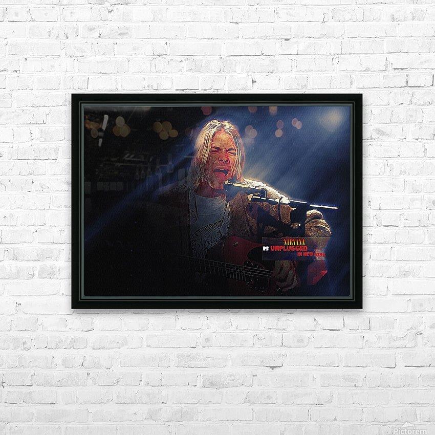 Kurt Cobain Live MTV Unplugged HD Sublimation Metal print with Decorating Float Frame (BOX)