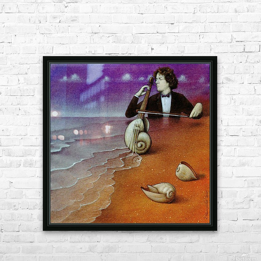 Violin inspiration HD Sublimation Metal print with Decorating Float Frame (BOX)