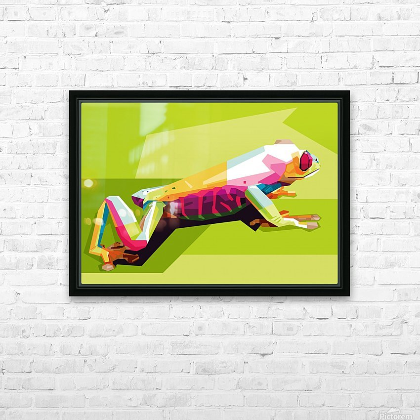 Frog HD Sublimation Metal print with Decorating Float Frame (BOX)