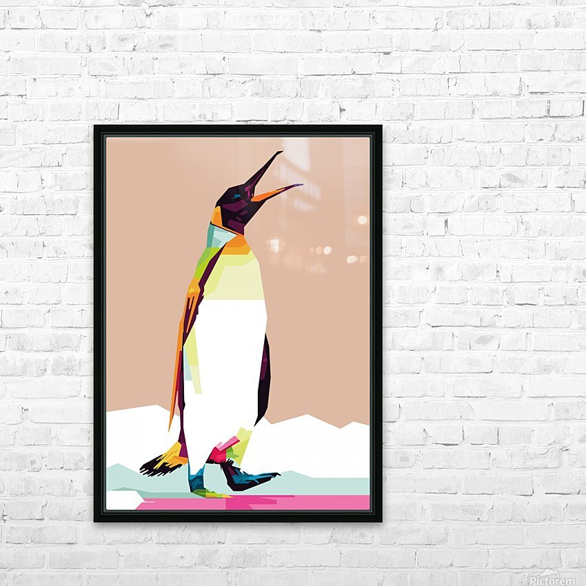 Penguin HD Sublimation Metal print with Decorating Float Frame (BOX)