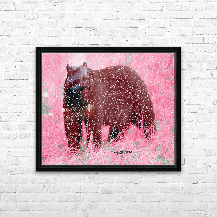 Standing Guard in Snow HD Sublimation Metal print with Decorating Float Frame (BOX)