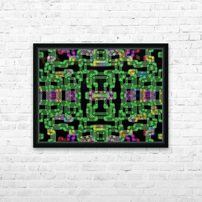 Colorful PIPES HD Sublimation Metal print with Decorating Float Frame (BOX)