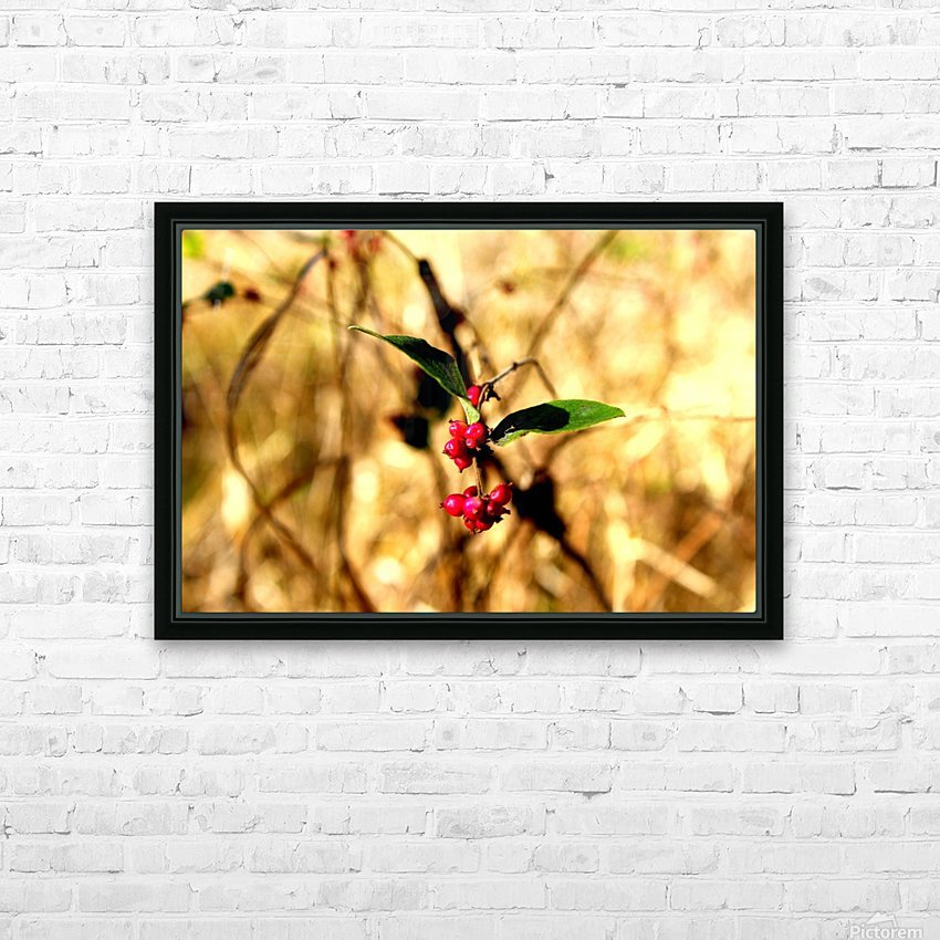 Fall Berries HD Sublimation Metal print with Decorating Float Frame (BOX)