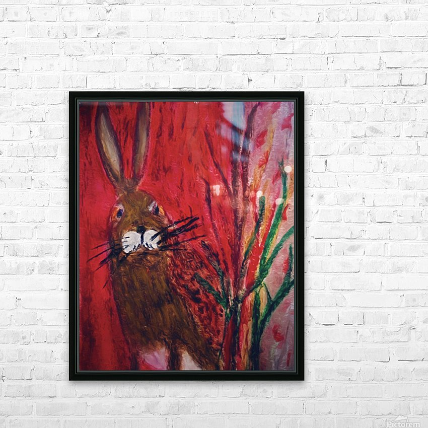 Red Rabbit HD Sublimation Metal print with Decorating Float Frame (BOX)