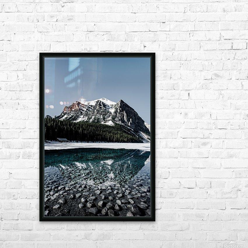 Lake Louise Reflection HD sublimation métal imprimé avec décoration flotteur cadre (boîte)