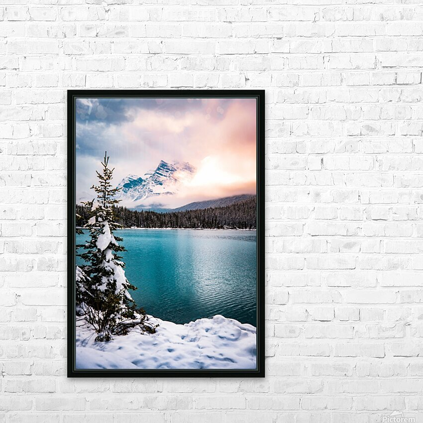 Winter Wonderland HD Sublimation Metal print with Decorating Float Frame (BOX)